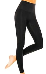 ASSETS by Spanx black textured waistband leggings